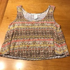 American Rag patterned tank top, S